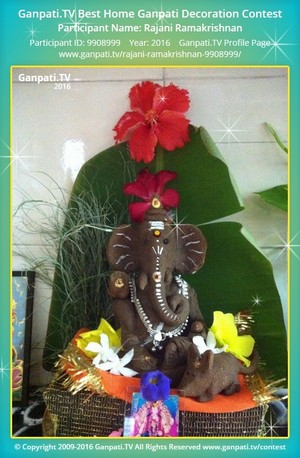 Rajani Ramakrishnan Ganpati Decoration
