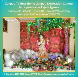 Rajesh Agarwal Ganpati Decoration