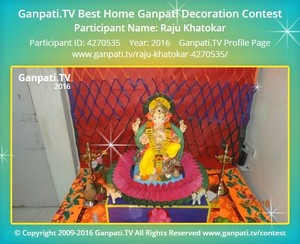 Raju Khatokar Ganpati Decoration