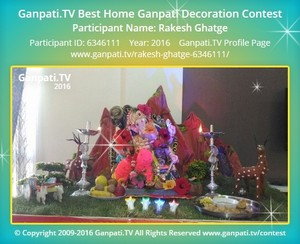 Rakesh Ghatge Ganpati Decoration
