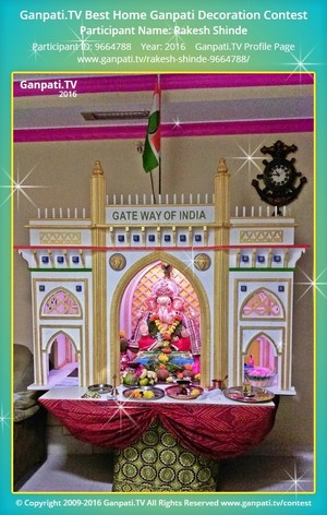 Rakesh Shinde Ganpati Decoration