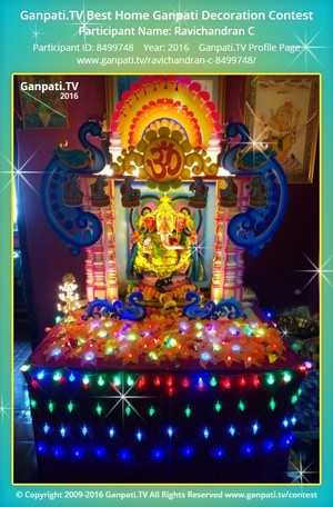 Ravichandran C Ganpati Decoration