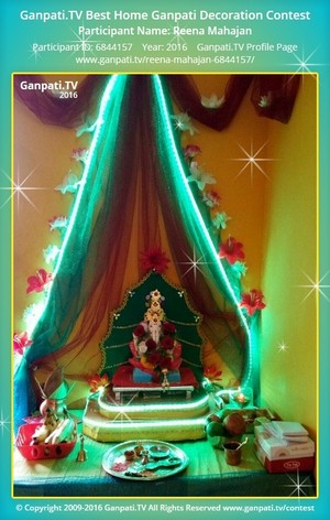Reena Mahajan Ganpati Decoration