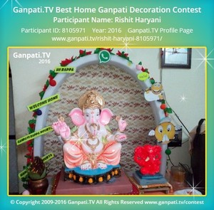 Rishit Haryani Ganpati Decoration