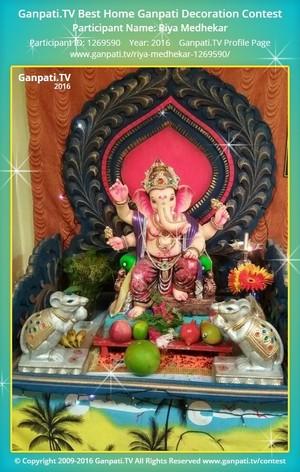 Riya Medhekar Ganpati Decoration