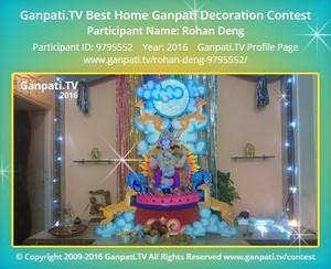 Rohan Deng Ganpati Decoration