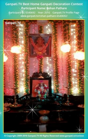 Rohan Pathare Ganpati Decoration
