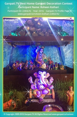 Roheen Kothari Ganpati Decoration