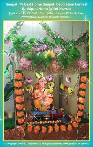 Rohini Dhawale Ganpati Decoration