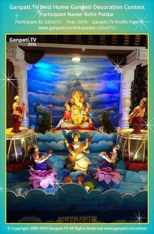 Rohit Potdar Ganpati Decoration