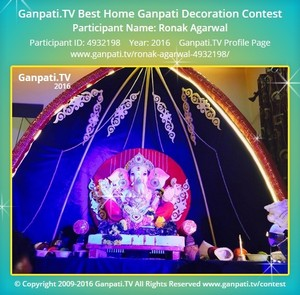 Ronak Agarwal Ganpati Decoration