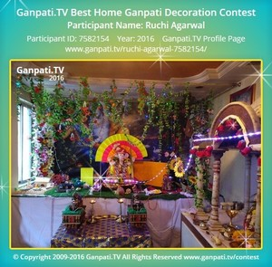 Ruchi Agarwal Ganpati Decoration
