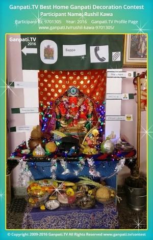 Rushil Kawa Ganpati Decoration