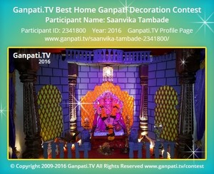 Saanvika Tambade Ganpati Decoration