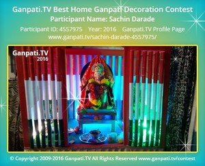 Sachin Darade Ganpati Decoration