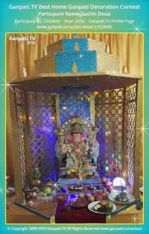 Sachin Desai Ganpati Decoration