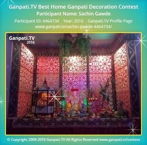 Sachin Gawde Home Ganpati Picture