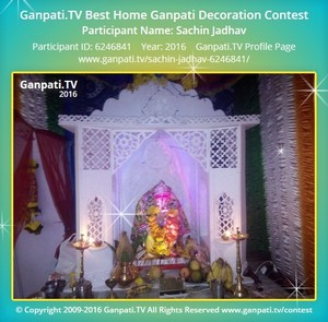 Sachin Jadhav Ganpati Decoration