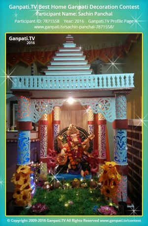 Sachin Panchal Ganpati Decoration
