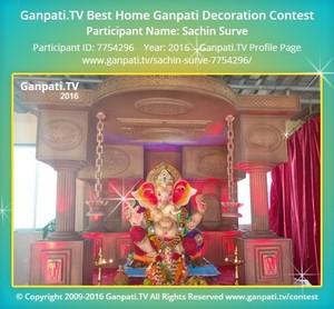 Sachin Surve Ganpati Decoration