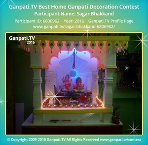 Sagar Bhakkand Ganpati Decoration