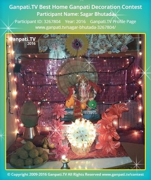 Sagar Bhutada Ganpati Decoration