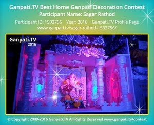 Sagar Rathod Ganpati Decoration
