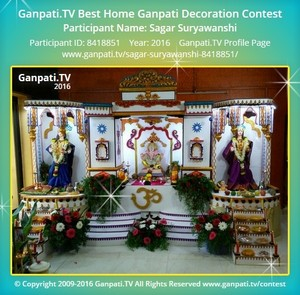 Sagar Suryawanshi Ganpati Decoration