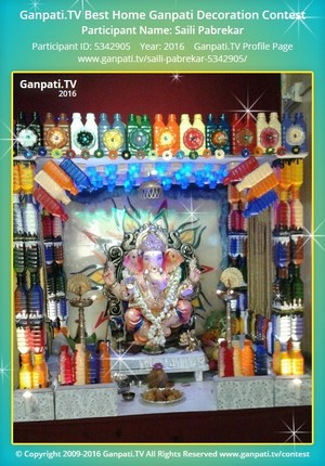 Saili Pabrekar Ganpati Decoration