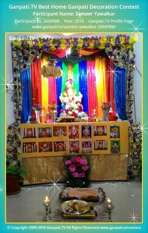 Sameer Yawalkar Ganpati Decoration