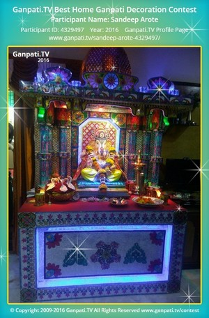 Sandeep Arote Ganpati Decoration