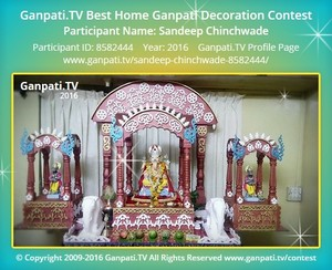 Sandeep Chinchwade Ganpati Decoration