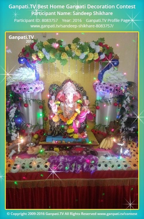 Sandeep shikhare ganpati tv for Artificial flowers decoration for ganpati