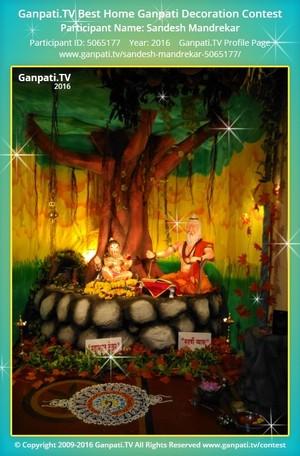 Sandesh Mandrekar Ganpati Decoration
