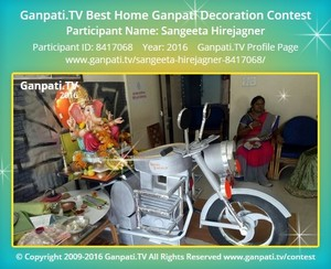Sangeeta Hirejagner Ganpati Decoration