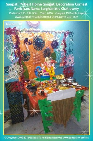 Sanghamittra Chakravorty Ganpati Decoration