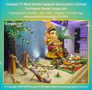 Sanjay Jain Ganpati Decoration