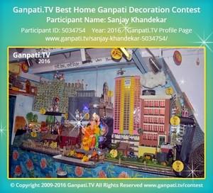 Sanjay Khandekar Ganpati Decoration