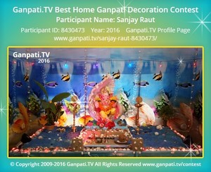 Sanjay Raut Ganpati Decoration