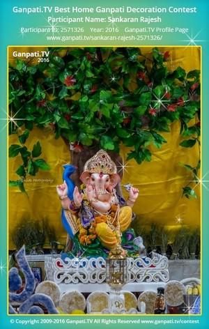 Sankaran Rajesh Ganpati Decoration
