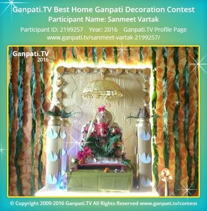 Sanmeet Vartak Ganpati Decoration