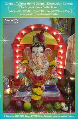 Satish Rana Ganpati Decoration