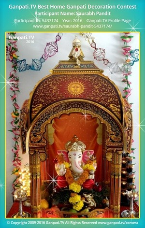 Saurabh Pandit Ganpati Decoration