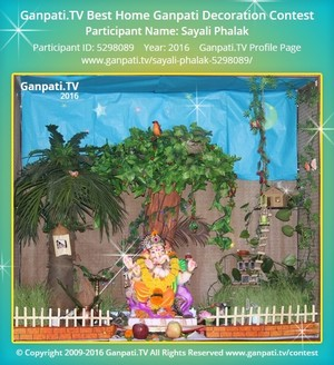 Sayali Phalak Ganpati Decoration