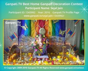 Sejal Jain Ganpati Decoration