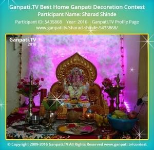 Sharad Shinde Ganpati Decoration