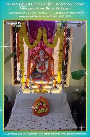 Sharan Venkatesh Ganpati Decoration