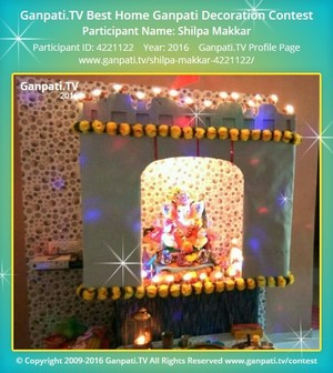 Shilpa Makkar Ganpati Decoration