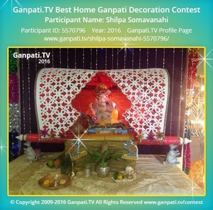 Shilpa Somavanahi Ganpati Decoration