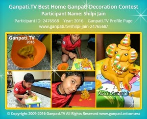 Shilpi Jain Ganpati Decoration